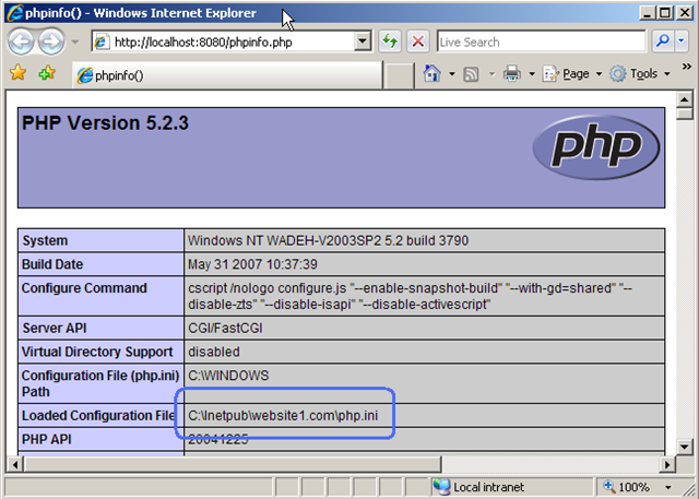 Per-site PHP configuration with IIS FastCGI - RuslanY Blog