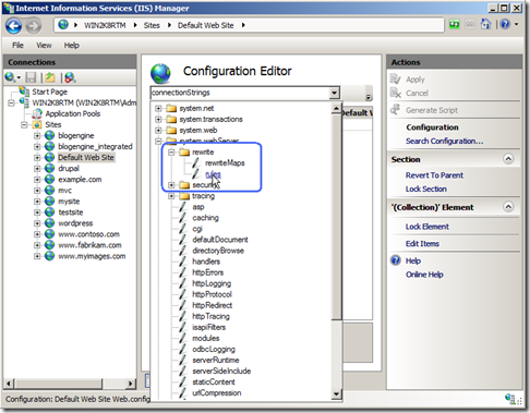 Scripting URL rewrite module configuration - RuslanY Blog