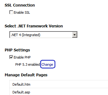 how to change php version