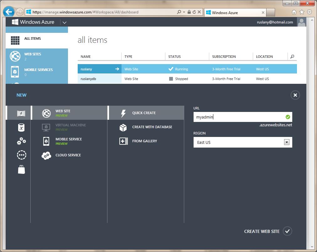 Deploying phpmyadmin on azure web app site | kb.