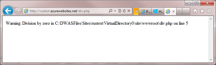 php display_errors