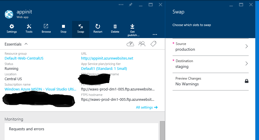 How to warm up Azure Web App during deployment slots swap