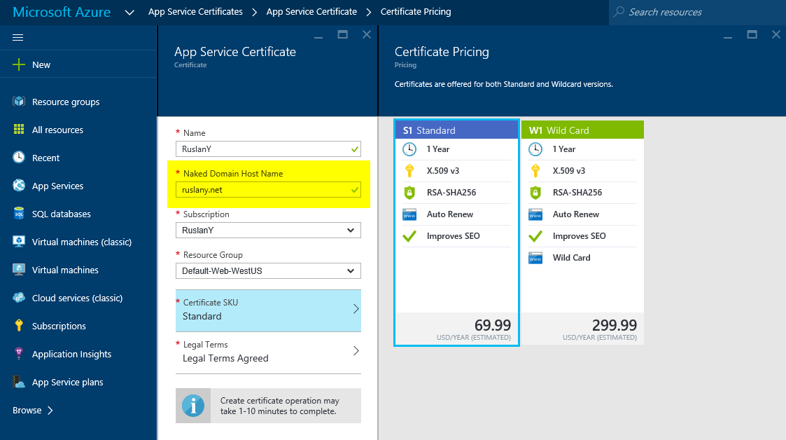 How To Buy A Certificate For An Azure Web App Ruslany Blog
