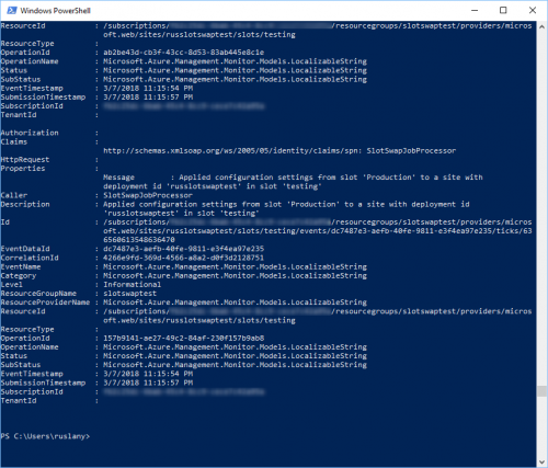 Activity Log in PowerShell