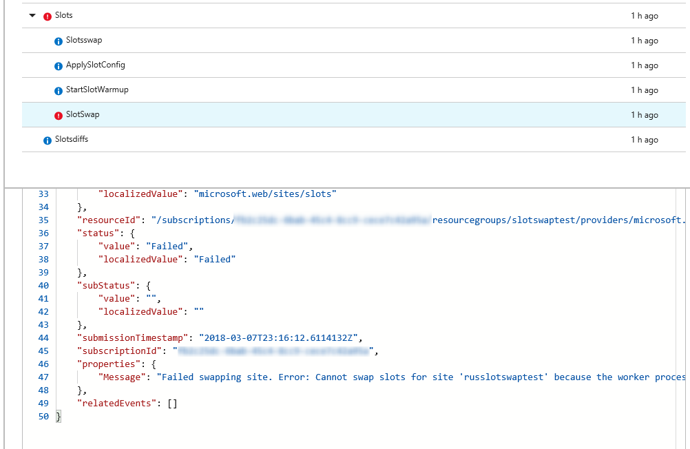 Using Azure Activity Log to check the progress of deployment
